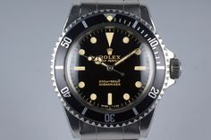 1964 Rolex Submariner 5513 Glossy Gilt Meters First Dial