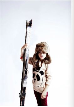 I want to go skiing, but not without that panda sweater #minirodini