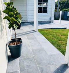 Mounting a Block or Paver Walkway – Outdoor Patio Decor Outdoor Paving, Outdoor Tiles, Outdoor Flooring, Outdoor Spaces, Patio Design, Garden Design, Bluestone Paving, Limestone Pavers, Paver Walkway