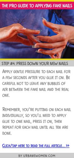 The pro guide to applying fake nails - Step #4: Press down your new nails