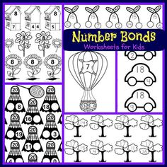 Number Bonds to 15 Free Math Worksheets  Number bonds Free math
