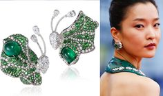 Du Juan   CINDY CHAOEmerald Spring Butterfly Earrings10th Anniversary Butterfly Collection. Emeralds, Diamonds, white gold.