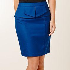City+Dressing+Peplum+Waist+Skirt+-+Sodalite+Blue