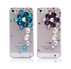 New fashion Diy crystal rhinestone flower Case cover deco kit for APPLE iPhone 4 4S—cl15