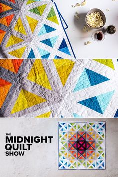 Angela Walters creates an attic window quilt as she shows you how to mix colors with confidence! Find the quilt kit, supplies and full episode right here. Longarm Quilting, Machine Quilting, Quilting Tutorials, Quilting Projects, Midnight Quilt Show, Attic Window Quilts, Rainbow Quilt, Contemporary Quilts, Mini Quilts
