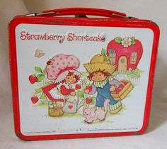 Had this one...  Vintage Lunch Box Strawberry Shortcake 1980