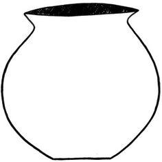 Free Flower Pot Template Free Word Art Papercraft