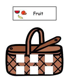 Sort Fruits and Vegetables File Folder