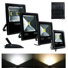 Outdoor Security and Floodlights 183393: 10W 20W 30W 50W 100W Led Flood Light Outdoor Slim Style Spotlight Black -> BUY IT NOW ONLY: $35.99 on eBay!