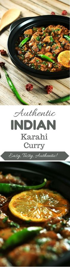 Authentic Chicken Karahi Curry You'll definitely end up impressing your friends and family with this delicious recipe! It's so simple to make and tastes completely authentic! Spicy Recipes, Indian Food Recipes, Asian Recipes, Cooking Recipes, Healthy Recipes, Ethnic Recipes, Simple Recipes, Authentic Indian Recipes, Authentic Food