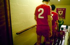 liverpool-goalkeeper-bruce-grobbelaar-touches-the-famous-this-is-as-picture-id91538922 (612×395) Fc Liverpool, Liverpool Football Club, This Is Anfield, Just A Game, Football Kits, Retro, Pictures, Legends, Photos