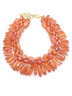 Fire Opal Quartz Necklace by Nest. Available at saksfifthavenue.com