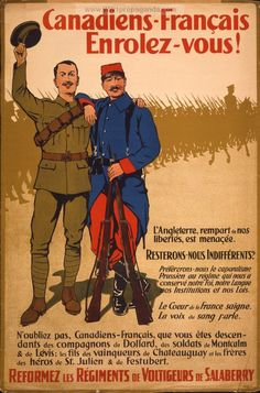WW1 French Canadian enlistment poster