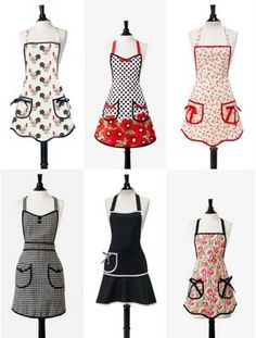 Maybe I'm a dork, I totally wear aprons, I do enough laundry as it is I don't need to do more. These are so pretty, I can be a cute looking dork. :-)