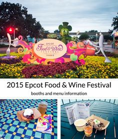 An extensive list of all the booths with the dishes and drinks available at the 2015 Epcot Food and Wine Festival as well as a list of the five new booths being debuted this year!