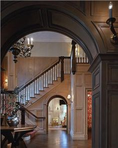 Traditional (Victorian, Colonial) Foyer