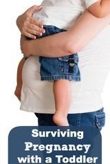 Your second pregnancy is often complicated by having to care for a toddler. Survival tips for moms!
