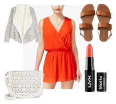 """Untitled #91"" by pretty-in-pink125 on Polyvore featuring One Clothing, Aéropostale, NYX, Under One Sky and orangeromper"