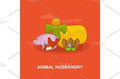 Vegetable Design, Orange Background, Cartoon Styles, Concept, Illustration, Animals, Fictional Characters, Animales, Animaux