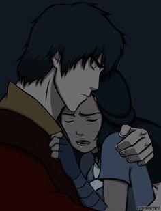 Prince Zuko hugging Katara in comfort when she is in sad tears from Avatar The Last Airbender Katara Y Zuko, Avatar Zuko, Team Avatar, Azula, Fanart, Prince Zuko, Avatar Series, Avatar The Last Airbender Art, Korrasami