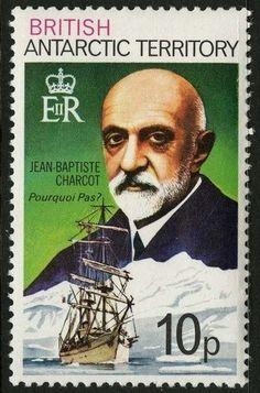 Sello: Jean Baptiste Charcot (Británico Territorio Antártico (BAT)) (Polar Explorers) Mi:GB-AT 55AX,Sn:GB-AT 55
