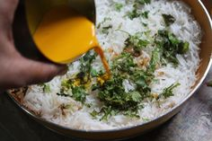 Easy Mutton Dum Biryani Recipe - Lamb Biryani Recipe - Yummy Tummy Lamb Biryani Recipes, Dum Biryani, Yellow Foods, Coriander Leaves, Garlic Paste, Fennel Seeds, Spices, Cooking, Ethnic Recipes