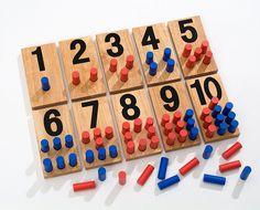 Jeu mathématique Montessori / L'îlot éducatif