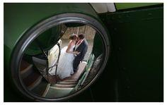 Vintage Bus Reflection. Wedding Photography. Blackpool, UK.