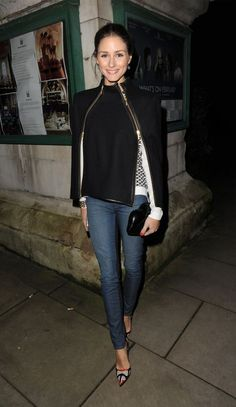 Olivia Palermo Love her style.might be my next Style Crush! Mode Gossip Girl, Denim Blog, Look Blazer, Olivia Palermo Style, Mode Jeans, Looks Street Style, Looks Black, Outfit Trends, Mode Outfits