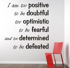 Nuovo Creations features a wide variety of Inspirational Motivational Wall Decals. Our vinyl decal quotes can inspire and encourage you, why not put it somewhere where you will see it daily, and be in Inspirational Wall Quotes, Motivational Quotes, College Girls, Positive Thoughts, Positive Quotes, Image Citation, Good Morning Quotes, Positive Affirmations, Decir No