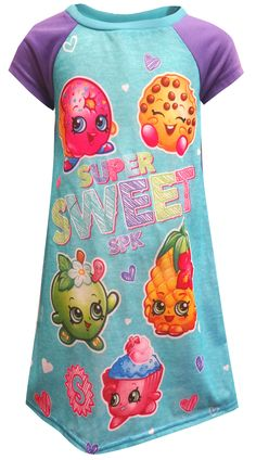 aab17dcb8fe Just when you thought Shopkins couldn t get more adorable! These flame  resistant nightgowns