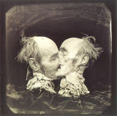 joel-peter witkin.  photographer who walks that line between exploitation, grotesque, and beautiful.