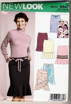 New Look 6541 Misses Misses Bias Cut Skirt 4 by Noahslady4Patterns, $4.75 New Look Patterns, Sewing Patterns, Trending Outfits, Best Deals, Handmade Gifts, Skirts, Etsy, Tops, Projects