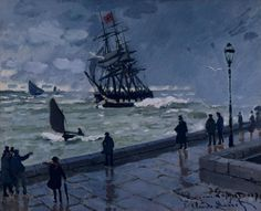 Claude Monet, The Jetty at le Havre, Bad Weather, 1870