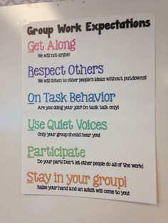 The Creative Classroom: Group Work Expectations Poster 5th Grade Classroom, Middle School Classroom, Classroom Behavior, New Classroom, Classroom Displays, Classroom Organization, Classroom Management, Behavior Management, Classroom Rules Poster