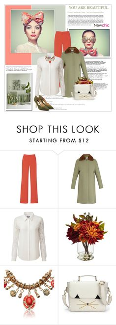"""""""NewChic 12. 06.01.2017"""" by goharkhanoyan ❤ liked on Polyvore featuring Alice + Olivia, RED Valentino, Pure Collection, Nearly Natural, Paul Andrew and newchic"""