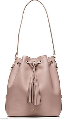 pink kate spade fall bucket bag