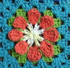 crochet lotus