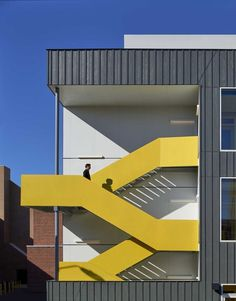 Gallery of Mundo Verde Bilingual Public Charter School / Studio Twenty Seven Architecture - 4 - design - Architecture Design, Studios Architecture, Facade Design, Staircase Design, School Architecture, Contemporary Architecture, Public Architecture, Minimalist Architecture, Architecture Facts