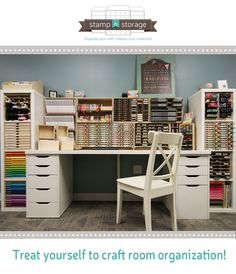 If you'd like to get your craft room organized, here's a great place to start!  Click to see our expo display desk that showcases a few of our best-selling products displayed with IKEA® furniture. Some of our products even are built to fit inside of the IKEA® Kallax! Take a look to see this example of craft storage solutions that could work for you!