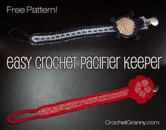 Crochet Pacifier Keeper