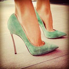 Me encantó el color #verde de estos #zapatos