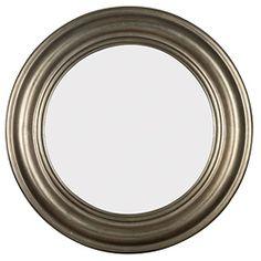 @Overstock.com.com - Pasco Round Antique Silver Wall Mirror - 32-inch antique silver, decorative wall mirror