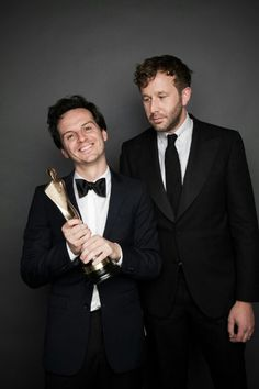 Andrew Scott and Chris O'Dowd<---- Chris be like: Must protect the marshmallow, must protect the marshmallow.....