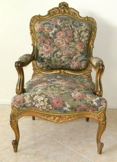 Antique FRENCH ARM CHAIR VICTORIAN PARLOUR STYLE circa 1880 | eBay