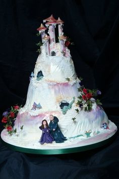 Novelty cake chosen by this couple because of my famous dragon cake.