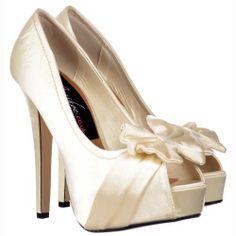 Onlineshoe Women's Peep Toe Wedding Bow Satin Bridal Pump Ivory Satin UK5 - EU38 - US7 - AU6 Onlineshoe,http://www.amazon.com/dp/B00CI6U5GS/ref=cm_sw_r_pi_dp_LNzDsb1VX4J00EJB