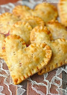 Heart Shaped Raspberry Hand Pies - Creative Juice