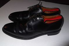 Allen Edmonds Clifton 11 1/2 D Men's Black Cap Toe 4 eyelet Leather Made in USA