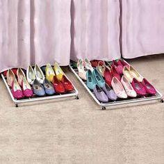 Under-bed shoe storage